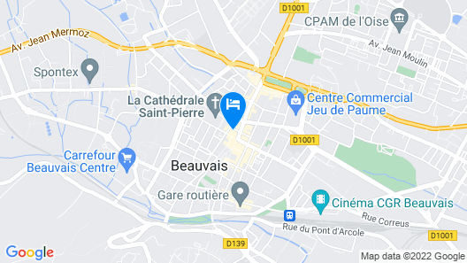 Hotel de la Cathedrale Map