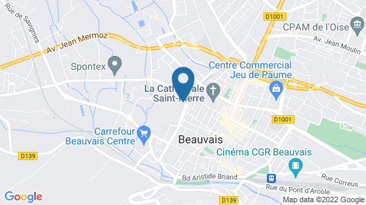Hôtel Mercure Beauvais Centre Cathédrale Map