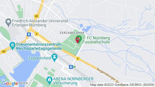 Seminaris Hotel Nürnberg Map