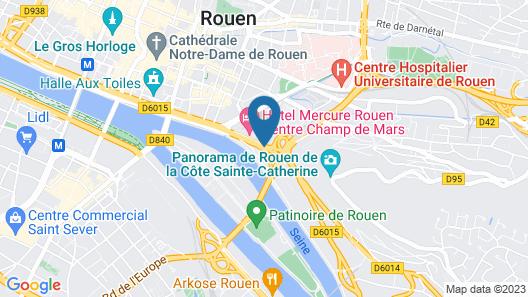 ibis Rouen Centre Champ de Mars Map