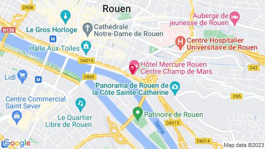 Hôtel Mercure Rouen Centre Champ-de-Mars Map