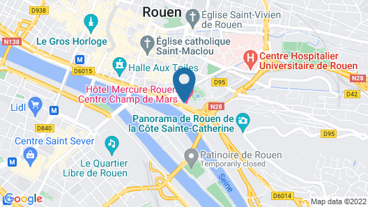 Mercure Rouen Champ de Mars Map