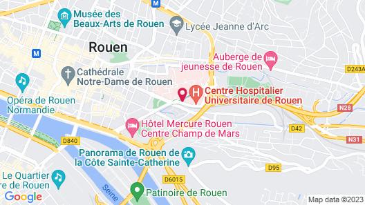 Brit Hotel Confort Rouen Centre Map