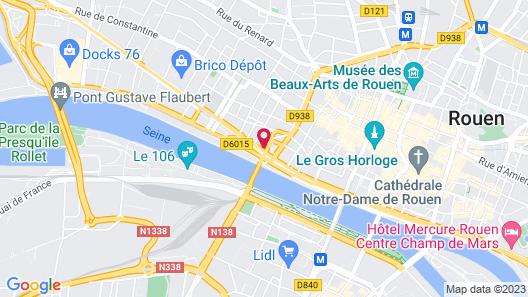 Hotel Kyriad Rouen Centre Map