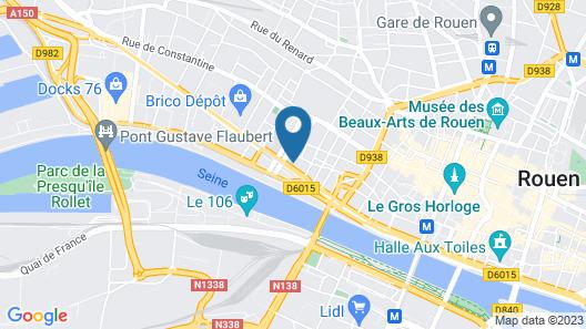 ibis Rouen Centre Rive Droite Map