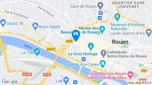 Best Western Plus Hotel Litteraire Gustave Flaubert Map