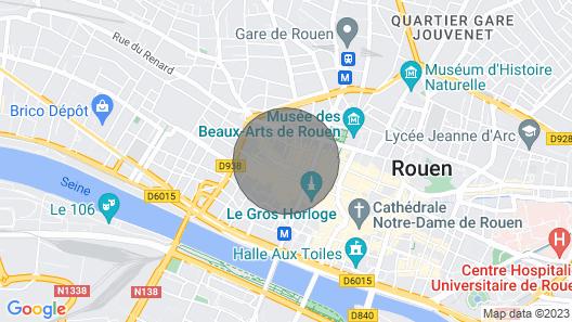 Little Angel Charming Apartment Heart of Rouen Map