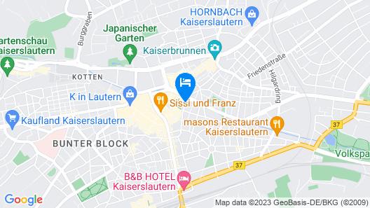 SAKS Urban Design Hotel Kaiserslautern Map