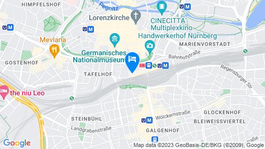Sheraton Carlton Hotel Nuernberg Map