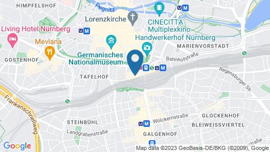 IntercityHotel Nürnberg Map