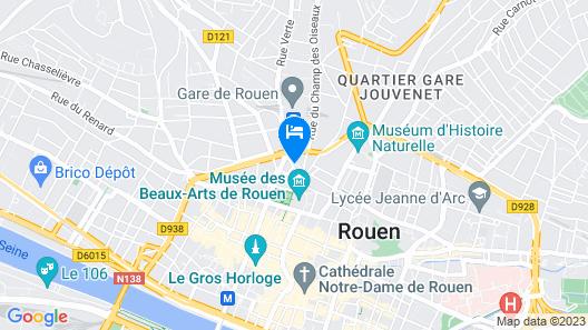 Radisson Blu Hotel, Rouen Centre Map