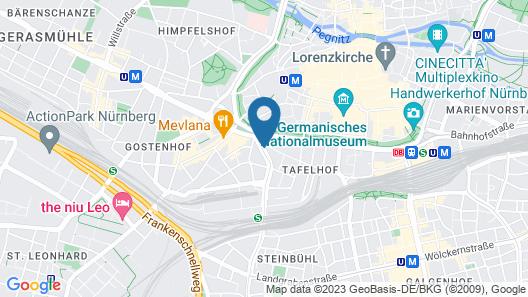 Park Inn by Radisson Nuremberg Map