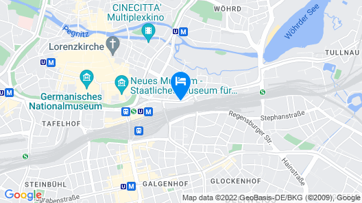 NH Collection Nürnberg City Map