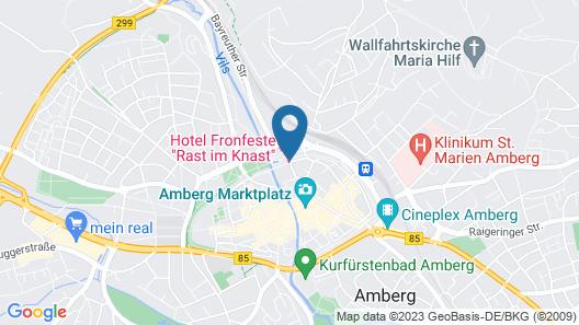 Hotel Fronfeste Map