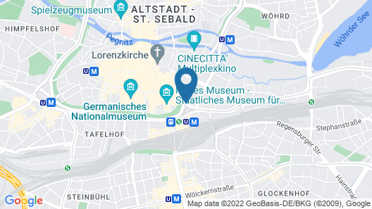Le Méridien Grand Hotel Nürnberg Map