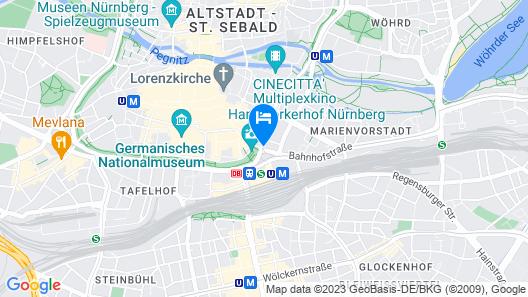 Le Méridien Grand Hotel Nürnberg Map