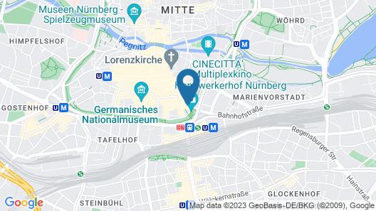 ibis Nuernberg Altstadt Map