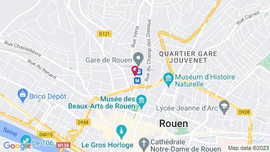 Best Western Plus Hôtel de Dieppe 1880 Map