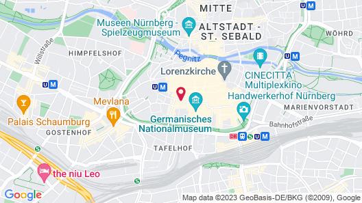 Adina Apartment Hotel Nuremberg Map