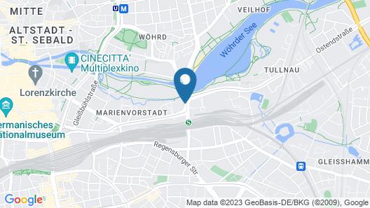 NOVINA HOTEL Wöhrdersee Nürnberg City Map