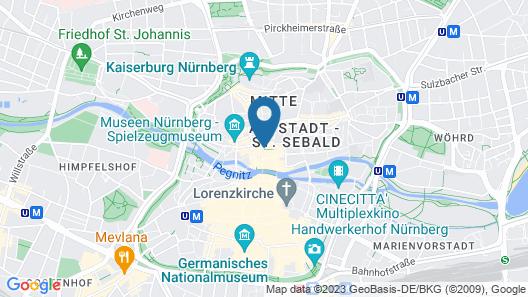 Sorat Hotel Saxx Nürnberg Map