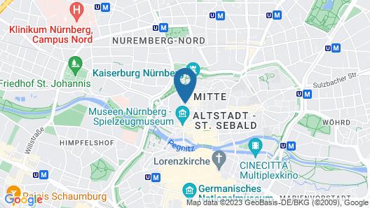 Hotel Agneshof Nürnberg Map