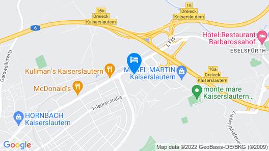 Holiday Inn Express Kaiserslautern Map