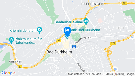 Kurpark-Hotel Bad Dürkheim Map