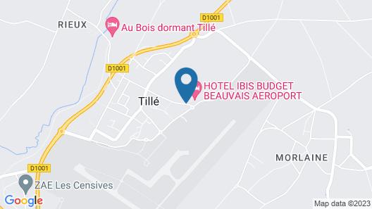 ibis budget Beauvais Aeroport Map