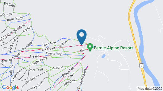 Snow Creek Lodge by Fernie Lodging Co Map