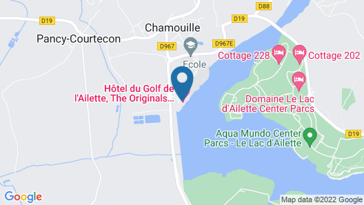 Hôtel du Golf de l'Ailette, The Originals Relais (Qualys-Hotel) Map