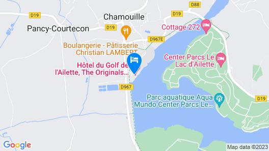 Hôtel du Golf de l'Ailette, The Originals Relais (Qualys-Hotel) Map