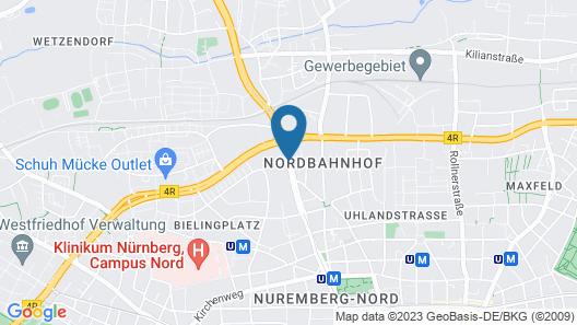 Centro Hotel Nürnberg Map