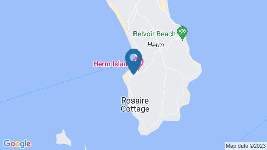 Herm Island White House Hotel Map
