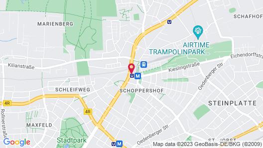 Premier Inn Nürnberg City Nordost Map