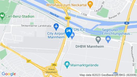 B&B Hotel Mannheim Map