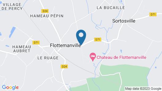 Chateau de Flottemanville Map