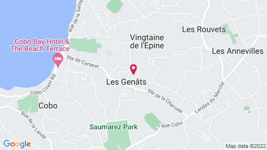 Hougue Du Pommier Hotel Map
