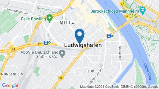Budget Hotel Ludwigshafen Map