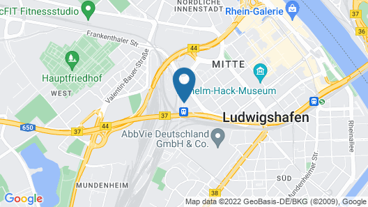 Best Western Leoso Hotel Ludwigshafen Map