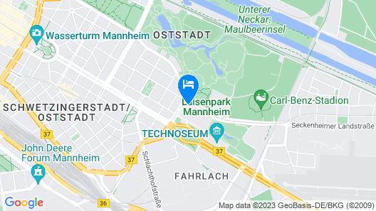 Mercure Hotel Mannheim am Friedensplatz Map