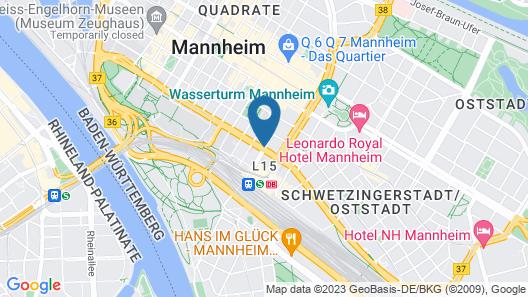 Novum Hotel Mannheim City Map