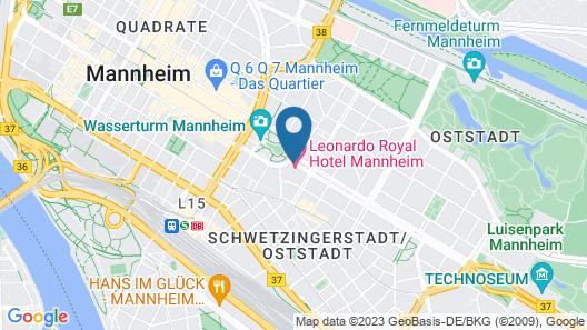 Leonardo Royal Hotel Mannheim Map