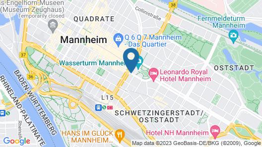 Maritim Hotel Mannheim Map