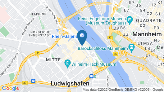B&B Hotel Ludwigshafen Map