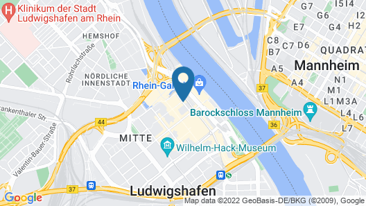 Tulip Inn Ludwigshafen City Map