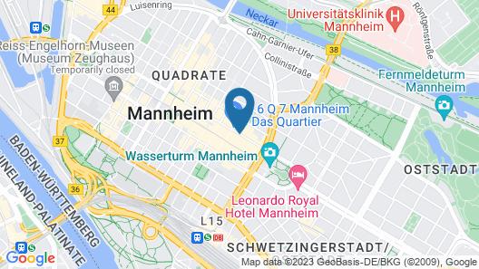 Radisson Blu Hotel, Mannheim Map