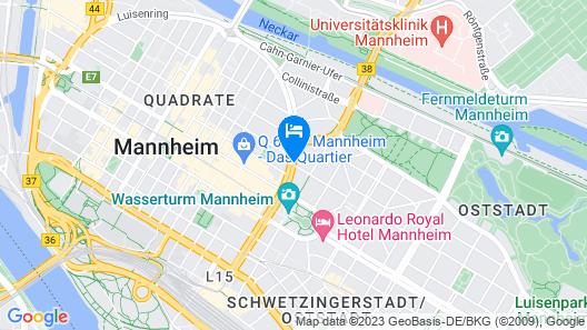 Dorint Kongresshotel Mannheim Map