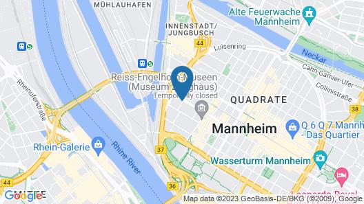 Best Western Hotel Mannheim City Map