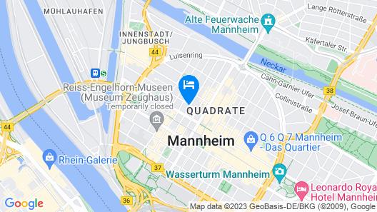 NYX Hotel Mannheim by Leonardo Hotels Map